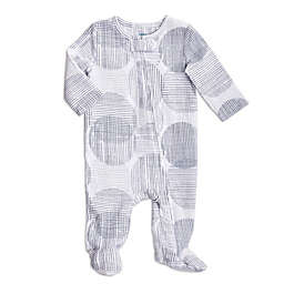 aden + anais® Circle Hatch Footie in Grey