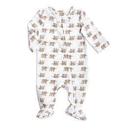 aden + anais® Elephants Long Sleeve Footie in Brown