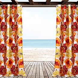 Leah Outdoor Grommet Window Curtain Panel Pair