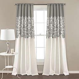 Estate Garden Rod Pocket Room Darkening Window Curtain  (Set of 2)
