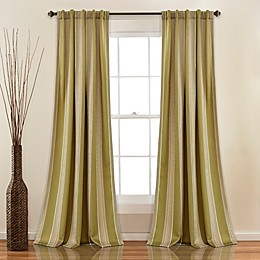 Julia Stripe Rod Pocket/Back Tab Room Darkening Window Curtain Panel Pair