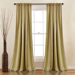Julia Stripe  Rod Pocket/Back Tab Room Darkening Window Curtain  (Set of 2)