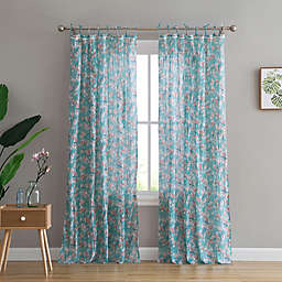 Peach & Oak Skyler 2-Pack Rod Pocket Window Curtain