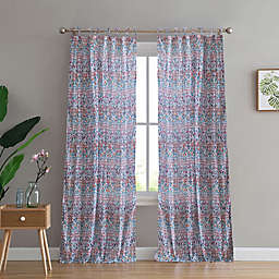 Peach & Oak Mia 2-Pack Rod Pocket Window Curtain