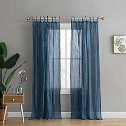 Peach & Oak Clover 2-Pack Rod Pocket Window Curtain