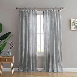Peach & Oak Clover 2-Pack  95-Inch Rod Pocket Window Curtain in Grey