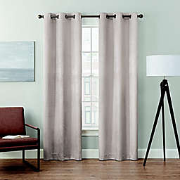 Brookstone® Velvet Solid 2-Pack 84-Inch 100% Blackout Window Curtain Panels in Oyster