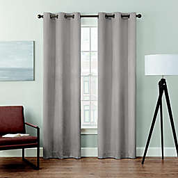 Brookstone® Velvet Solid 2-Pack 84-Inch 100% Blackout Window Curtain Panels in Platinum