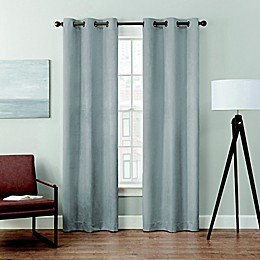 Brookstone® Velvet Solid 2-Pack 100% Blackout Grommet Window Curtain Panels