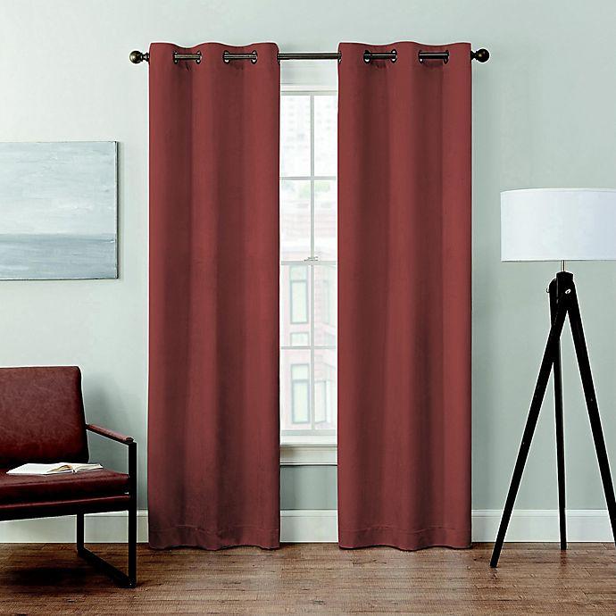 Alternate image 1 for Brookstone® Velvet Blackout Grommet Window Curtain (2-Pack)