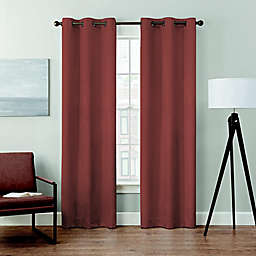 Brookstone® Velvet Solid 2-Pack 84-Inch 100% Blackout Window Curtain Panels in Terracotta