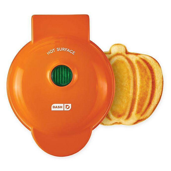 Alternate image 1 for DASH™ Pumpkin Mini Waffle Maker in Orange