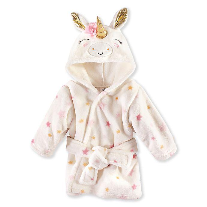 Alternate image 1 for Luvable Friends® Unicorn Stars Plush Bathrobe