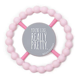 """Bella Tunno™ """"Really Pretty"""" Happy Teether in Pink"""