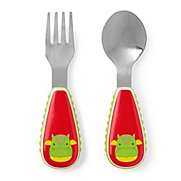 SKIP*HOP® 2-Piece Zoo-Tensils Dragon Fork and Spoon Set
