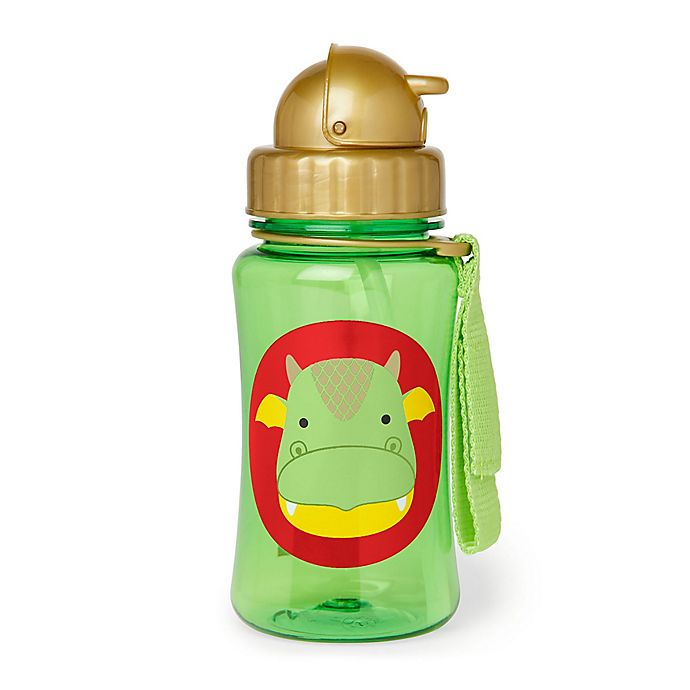 Alternate image 1 for SKIP*HOP® Zoo Dragon 12 oz. Straw Bottle in Green