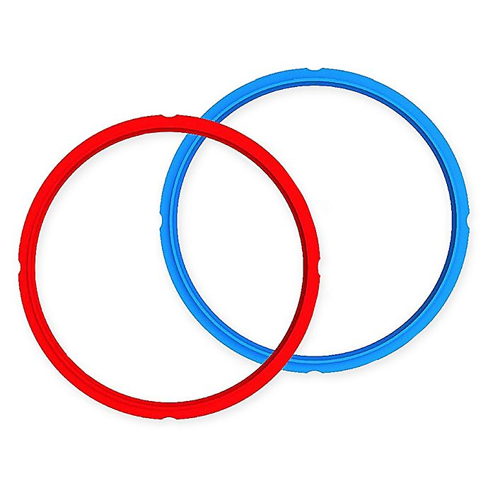 Alternate image 1 for Instant Pot® 8 qt. 2-Pack Sealing Rings in Red/Blue