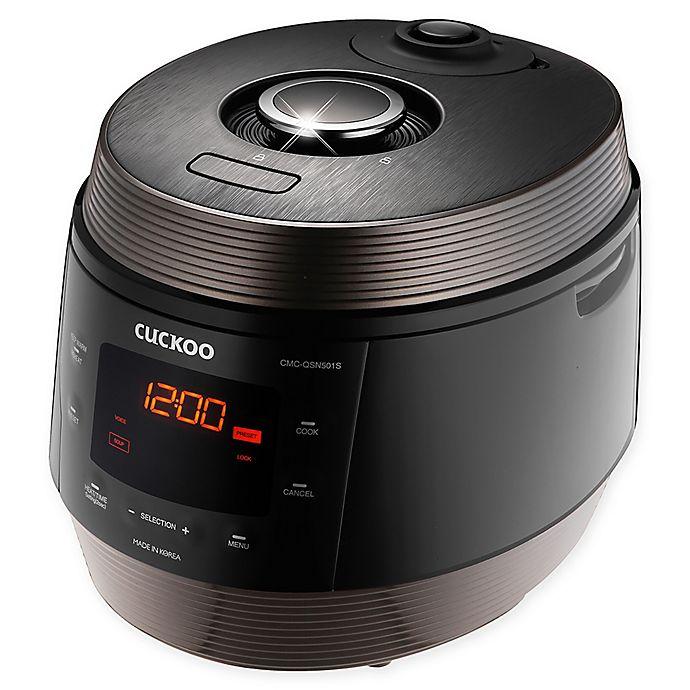 Alternate image 1 for Cuckoo Electronics® CMC-QSN501S 5 Qt. 8-in-1 Superior Multi Pressure Cooker in Black/Brown