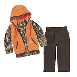 Carhartt® Mossy Oak® 3-Piece Shirt, Vest, and Pant Set in Brown