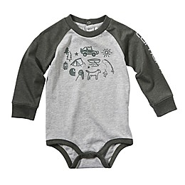 Carhartt® Camp Out Long Sleeve Bodysuit in Grey