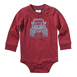 Carhartt® Monster Truck Long Sleeve Bodysuit in Burgundy