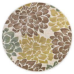 Tayse Rugs Molly 5'3 Round Area Rug in Ivory