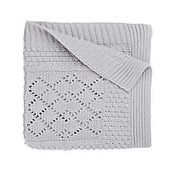 Elegant Baby® Knit Baby Blanket in Grey Star