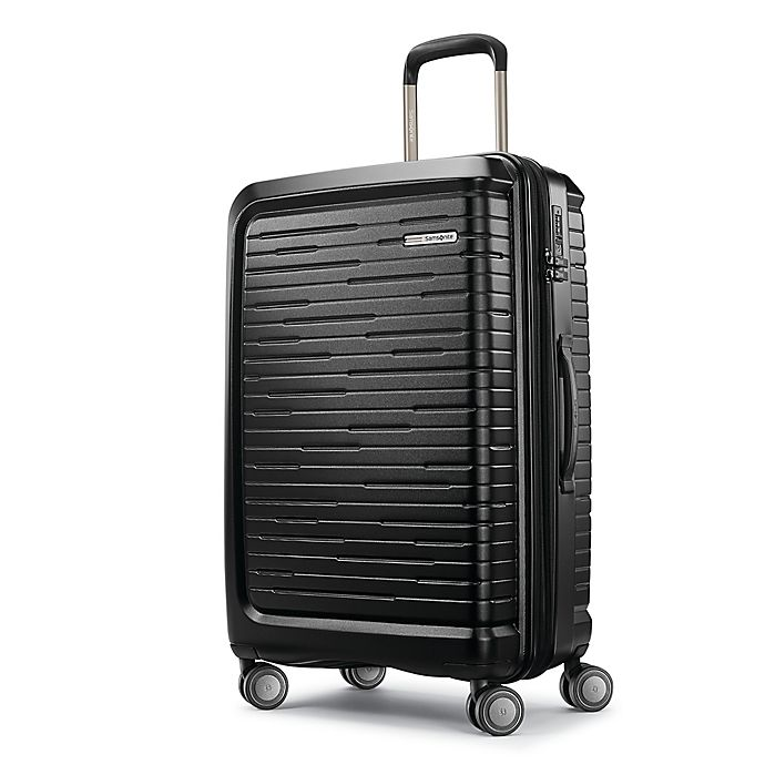 Alternate image 1 for Samsonite® Silhouette 16 25-Inch Hardside Spinner Checked Luggage in Obsidian