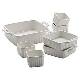 Over and Back® Benton 7-Piece Bakeware Set in White