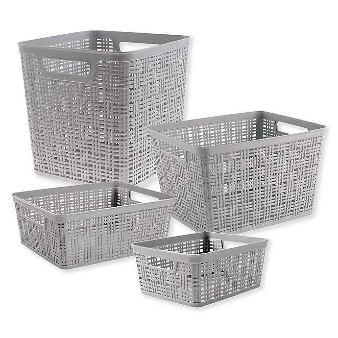 Alternate image 1 for Starplast Plastic Wicker Storage Basket Collecton
