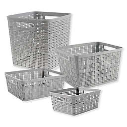 Starplast Plastic Wicker Storage Basket Collection