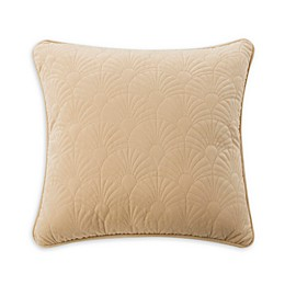 Rose Tree Ardenelle Quilted Square Throw Pillow in Tan