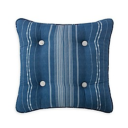 Rose Tree Ardenelle Striped Square Throw Pillow in Blue