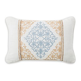 Rose Tree Ardenelle Embroidered Oblong Throw Pillow in Blue