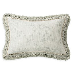 Rose Tree Geneve Reversible Oblong Throw Pillow in Sage