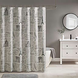 510 Design Marseille Shower Curtain in Grey/Charcoal