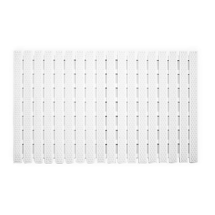 Alternate image 1 for Splash Home Slat Tub Mat in White