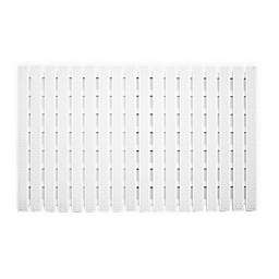 Splash Home Slat Tub Mat in White