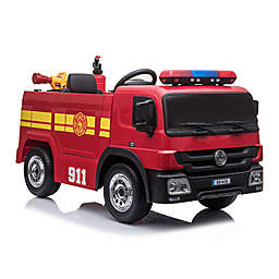 Blazin Wheels Ride-On 12-Volt Battery Operated Fire Truck