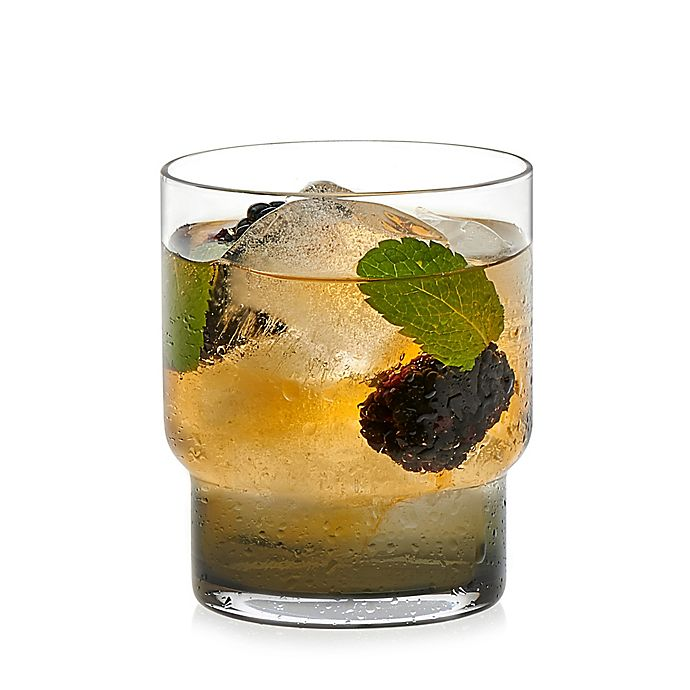 Alternate image 1 for Libbey® Glass Prologue Haze Double Old Fashioned Glasses in Smoke (Set of 6)