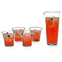 Luna 5-Piece Carafe with Double Old Fashioned Glass Set