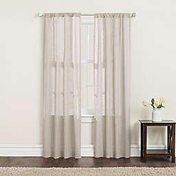 SALT™ Clarke 2-Pack 84-Inch Rod Pocket Window Curtain Panels in Linen