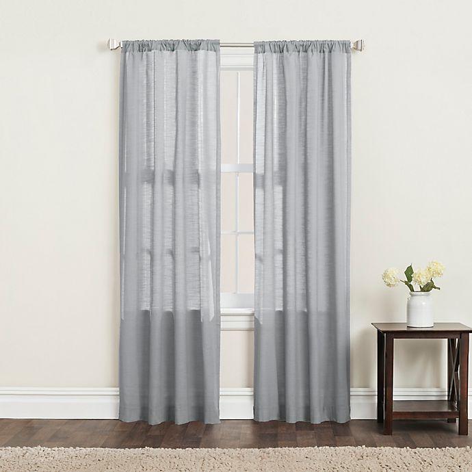 Alternate image 1 for SALT™ Clarke 2-Pack 84-Inch Rod Pocket Window Curtain Panels in Grey