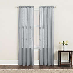 SALT™ Clarke 2-Pack 84-Inch Rod Pocket Window Curtain Panels in Grey