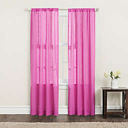 SALT™ Clarke 2-Pack 95-Inch Rod Pocket Window Curtain Panels in Magenta