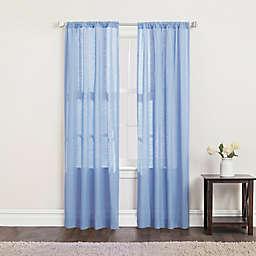 SALT™ Clarke 2-Pack 108-Inch Rod Pocket Window Curtain Panels in Blue