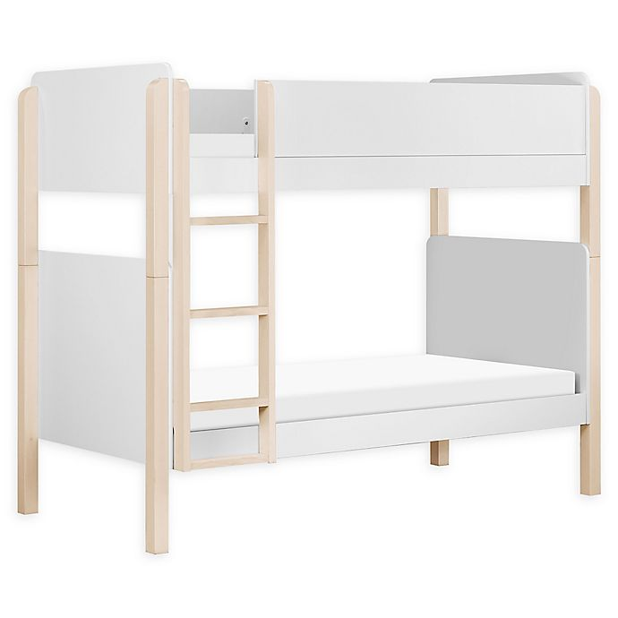 Alternate image 1 for Babyletto TipToe Twin Over Twin Bunk Bed in White/Natural