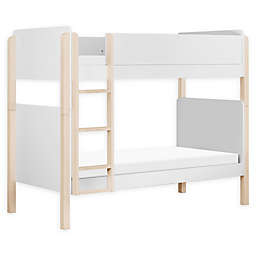 Babyletto TipToe Twin Over Twin Bunk Bed in White/Natural