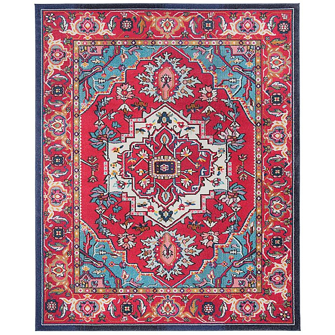 Alternate image 1 for Safavieh Monaco Traditional 10-Foot x 14-Foot Area Rug in Red/Turquoise