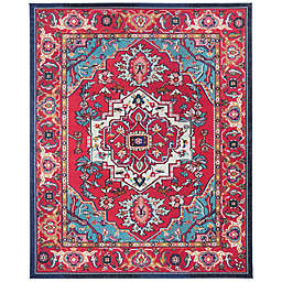 Safavieh Monaco Traditional 10-Foot x 14-Foot Area Rug in Red/Turquoise